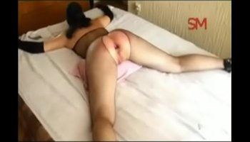 Beddable horny girl gets her oiled butt banged hard