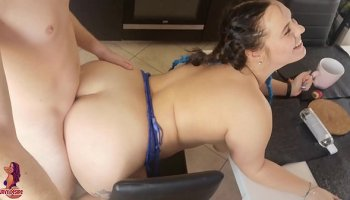 redhead fails to comply with horny officer who makes her take his cock