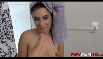 Bridesmaid Samantha Saint seduces bride in wedding dress