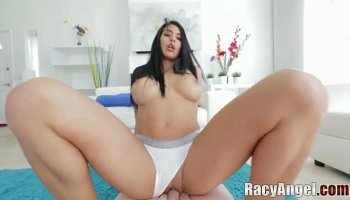 Two busty sports cuties lick pussy after workout