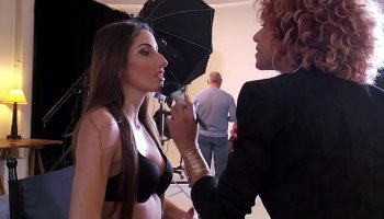Erotic body massage with a charming busty masseuse