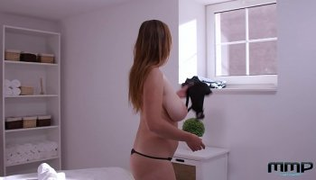 Swarthy latina with small tits but Deep Throat