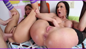 Hot horny milf Diamond Jackson gets banged by her stepson in the kitchen
